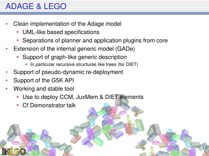 ADAGE & LEGO