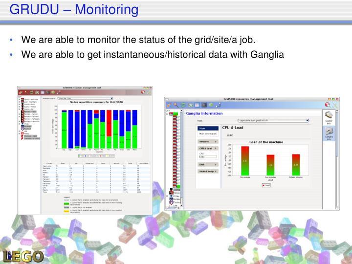 GRUDU – Monitoring