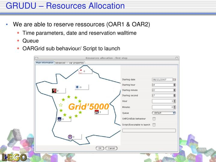GRUDU – Resources Allocation