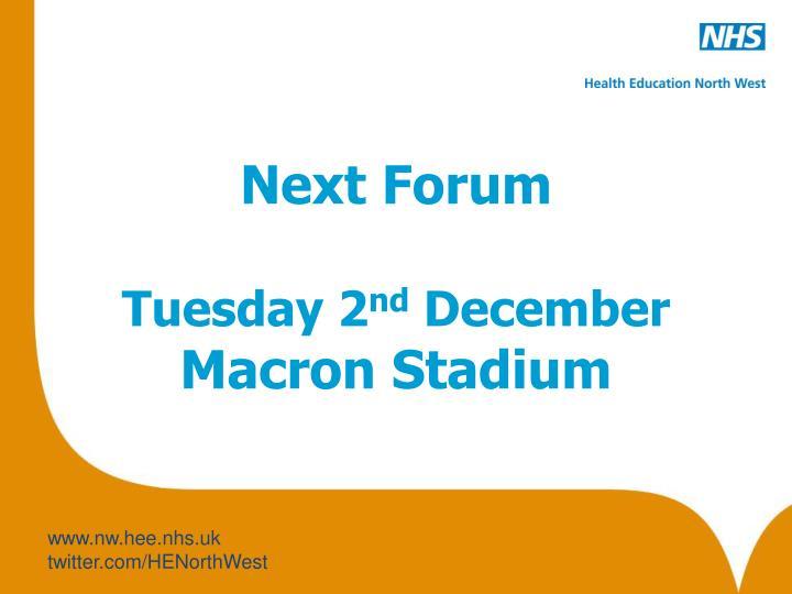 Next Forum