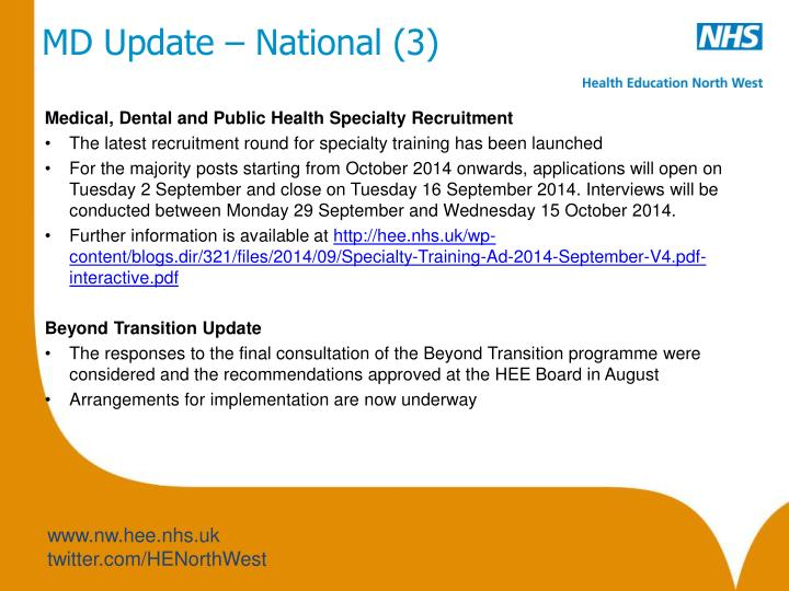 MD Update – National (3)