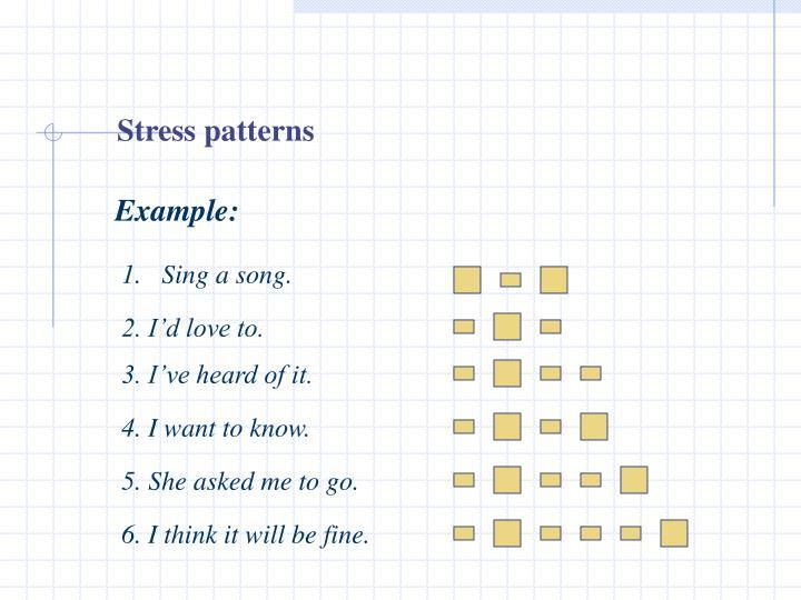 Stress patterns
