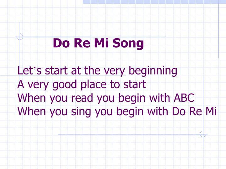 Do Re Mi Song