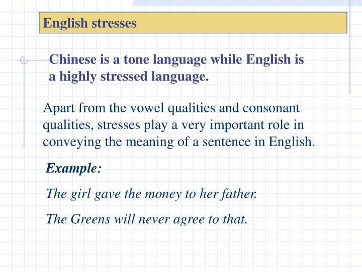 English stresses