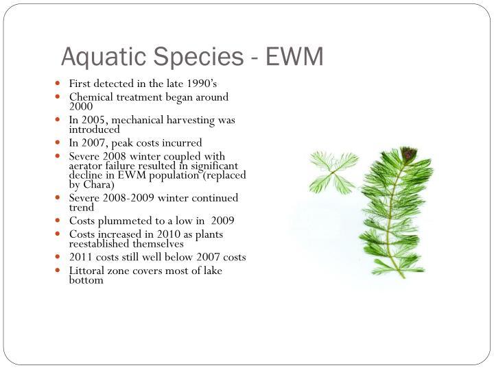 Aquatic Species - EWM