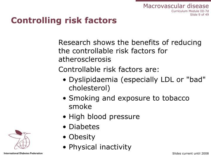 Controlling risk factors