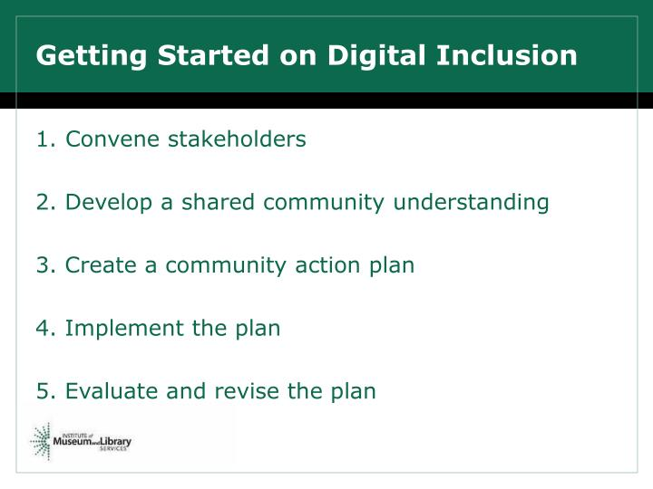 Getting Started on Digital Inclusion