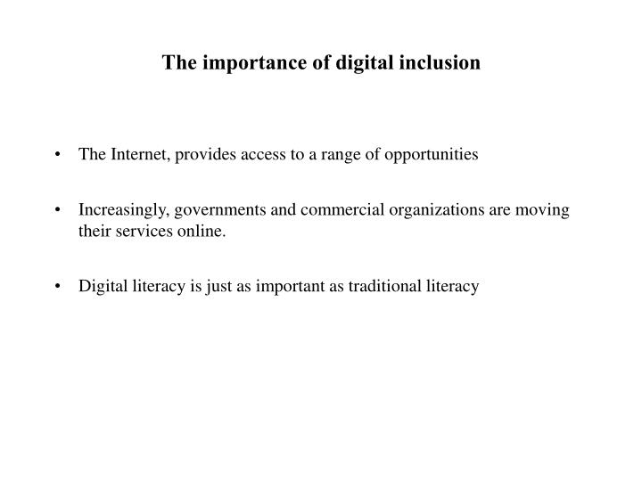 The importance of digital inclusion