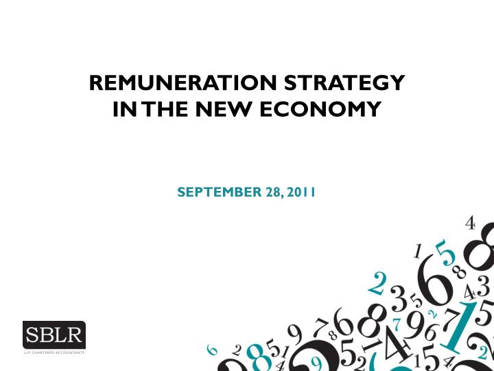 Remuneration strategy in the new economy