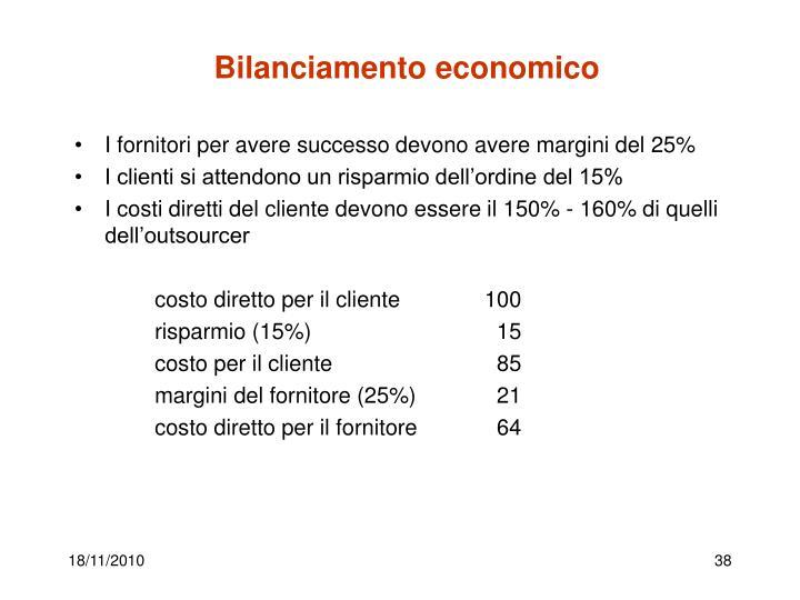 Bilanciamento economico