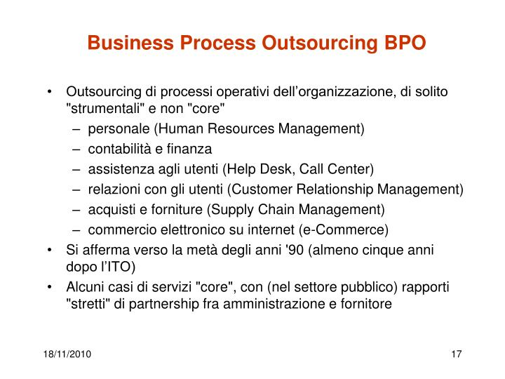 Business Process Outsourcing BPO