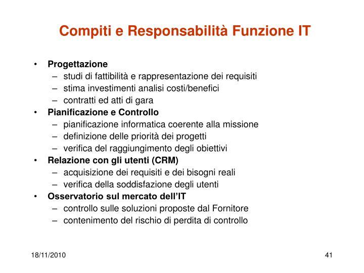 Compiti e Responsabilità Funzione IT