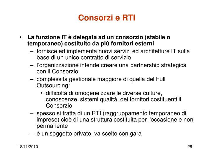 Consorzi e RTI