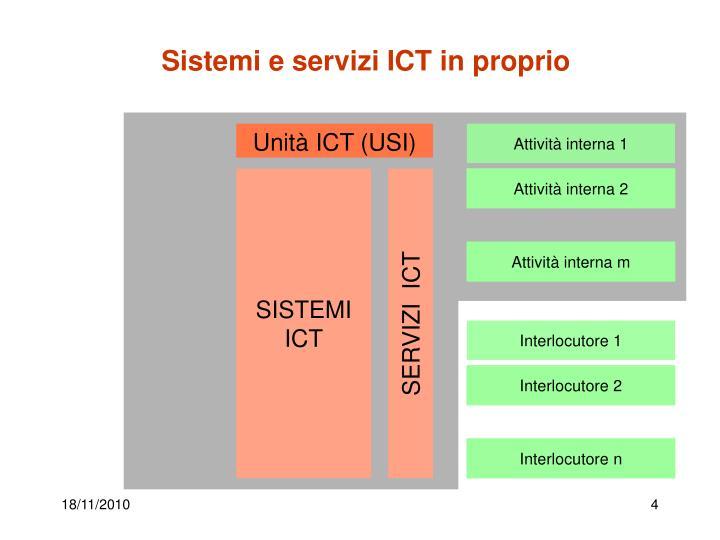 Sistemi e servizi ICT in proprio
