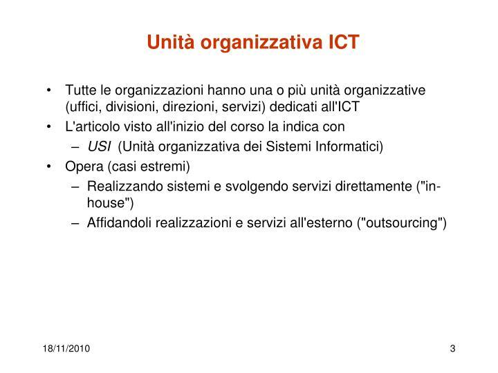 Unità organizzativa ICT