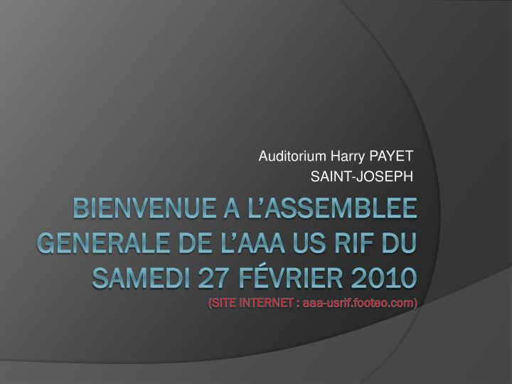 Auditorium harry payet saint joseph