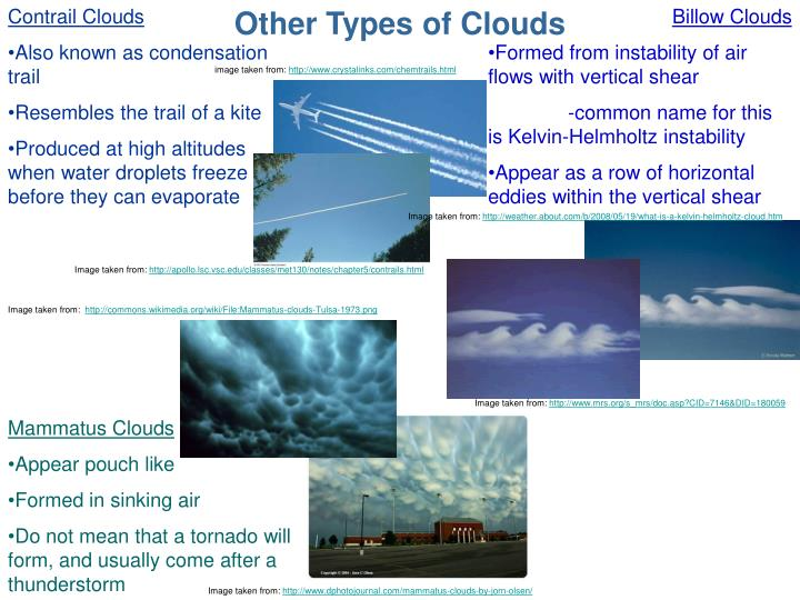 Other Types of Clouds