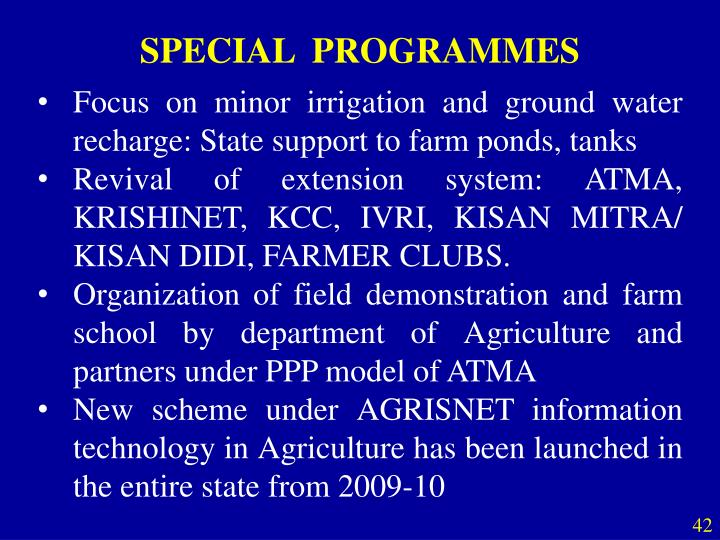 SPECIAL  PROGRAMMES