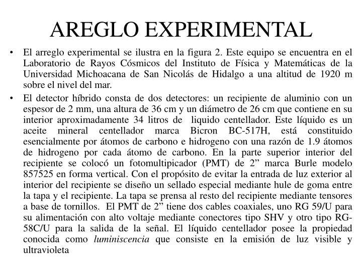 AREGLO EXPERIMENTAL