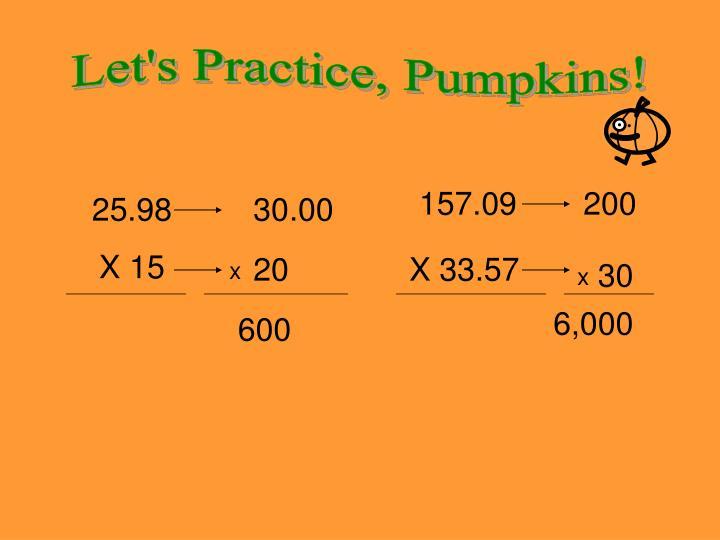 Let's Practice, Pumpkins!
