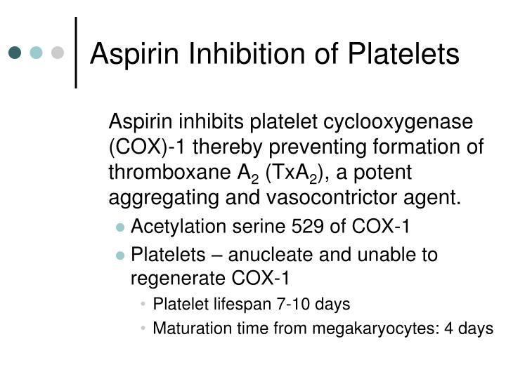 Aspirin Inhibition of Platelets