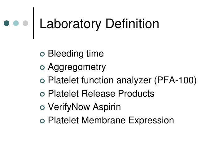Laboratory Definition