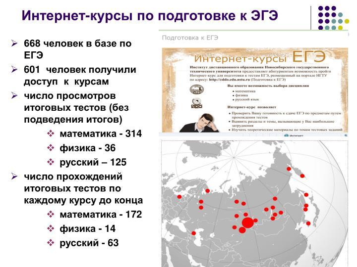 Интернет-курсы по подготовке к ЭГЭ