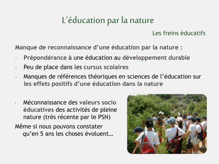 L'éducation par la nature