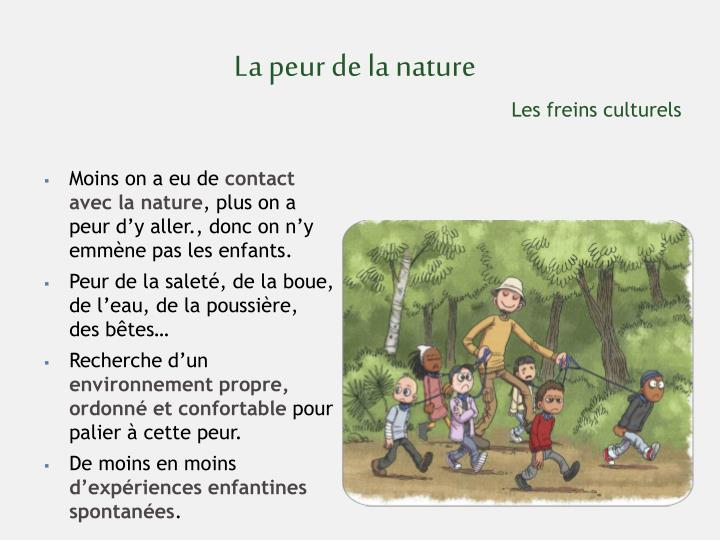 La peur de la nature