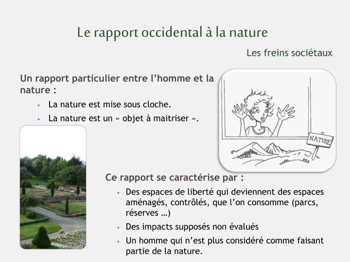 Le rapport occidental à la nature