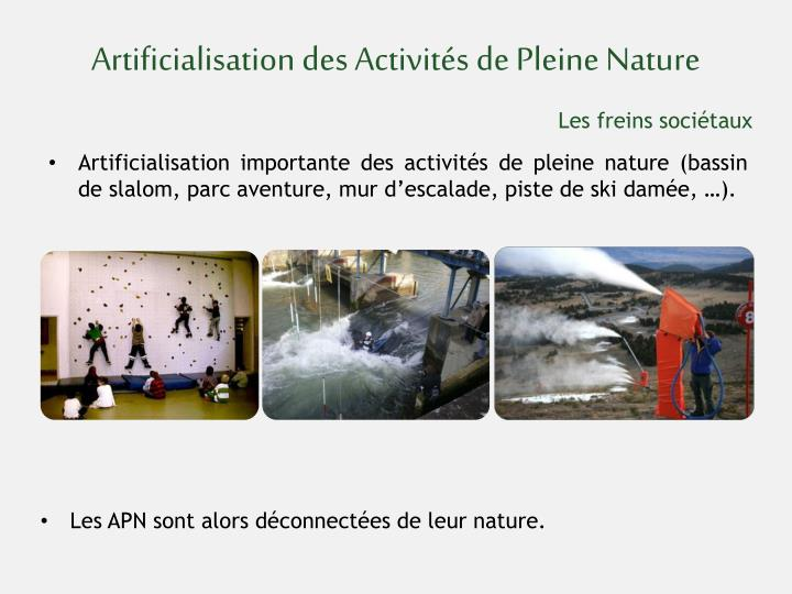 Artificialisation des Activités de Pleine Nature