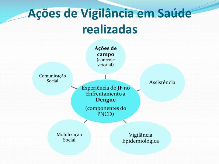 Ações de Vigilância em Saúde realizadas
