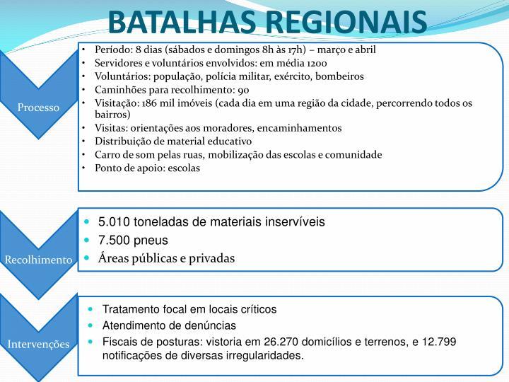 BATALHAS REGIONAIS