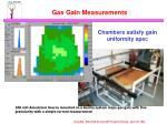 gas gain measurements