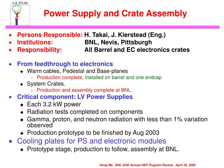 Power Supply and Crate Assembly