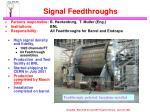 signal feedthroughs