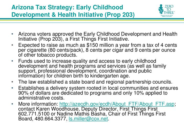 Arizona Tax Strategy: Early Childhood