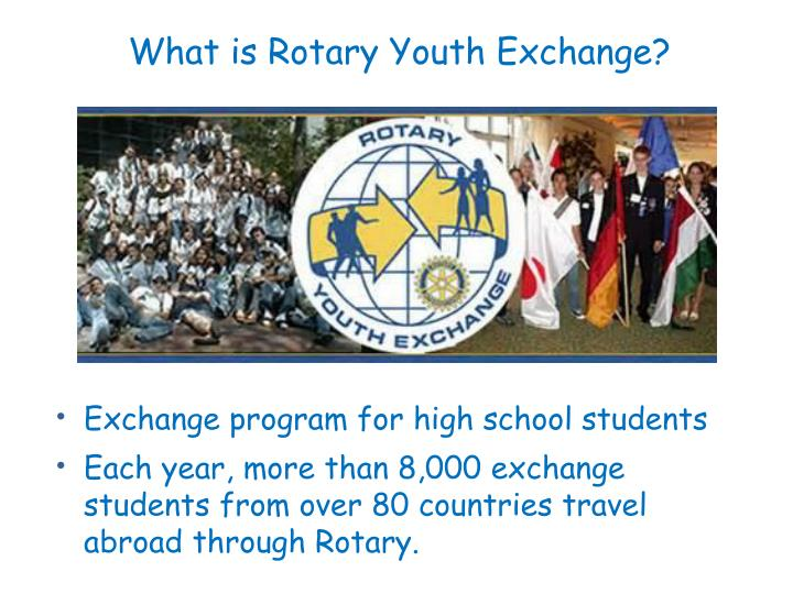 What is Rotary Youth Exchange?