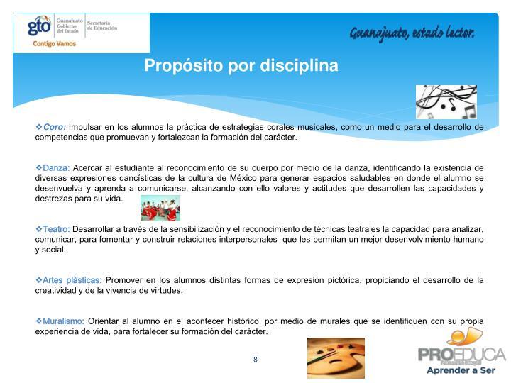 Propósito por disciplina