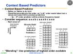 context based predictors