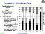 correlation of predicted sets