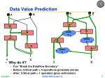 data value prediction