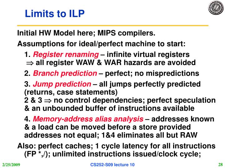 Limits to ILP