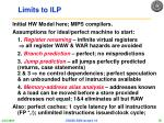 limits to ilp1