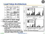 load value architecture