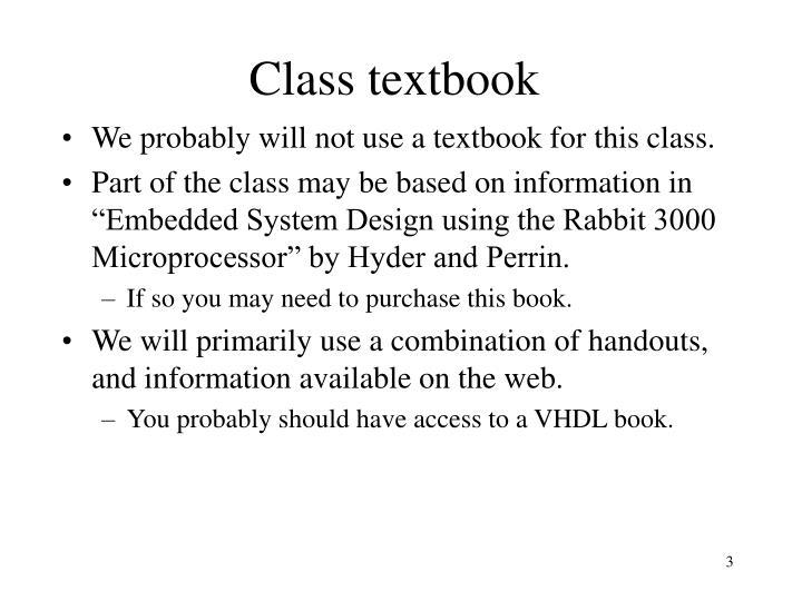Class textbook