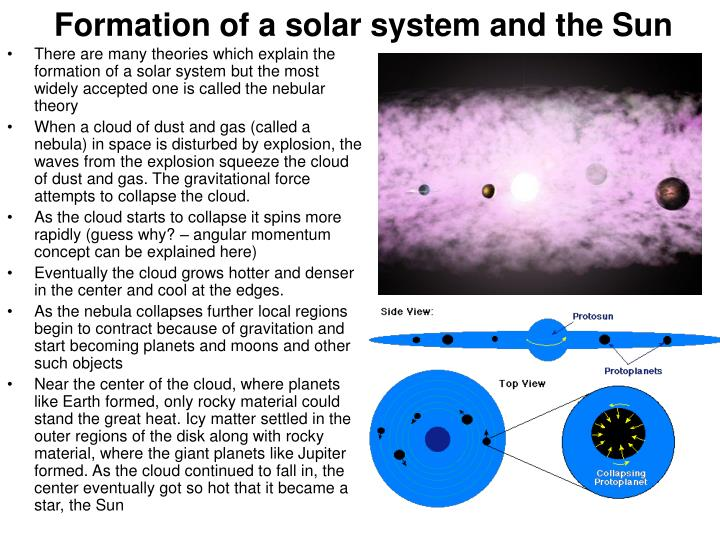 Formation of a solar system and the sun