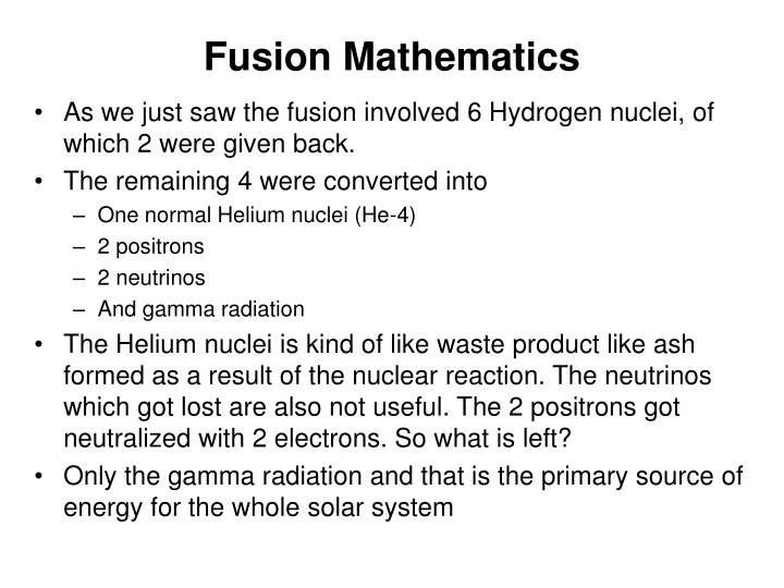 Fusion Mathematics