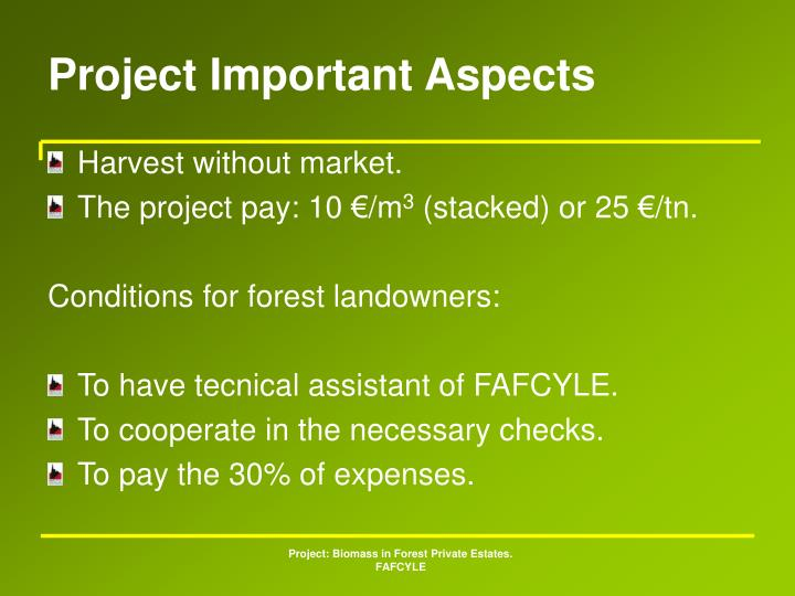 Project Important Aspects