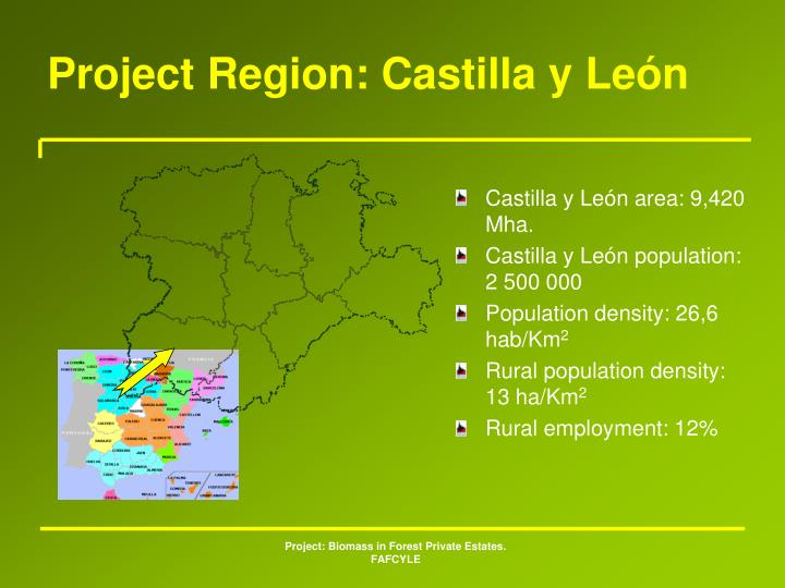 Project Region: Castilla y León